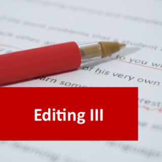 Editing III (Specialist and Professional Editing) 100 Hours Certificate Course