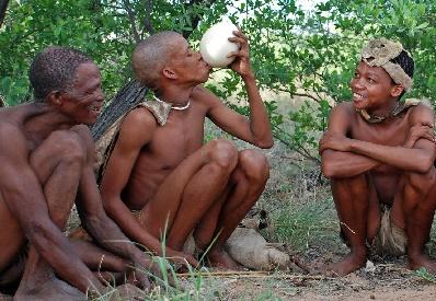 Bushmen live a similar existence to earlier humans