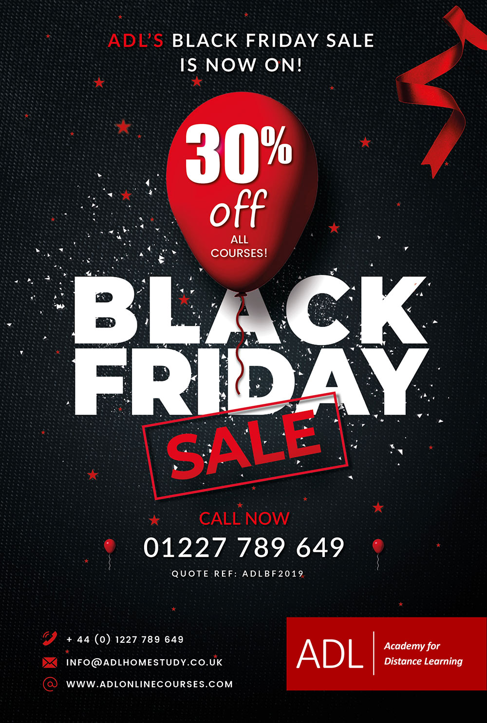 ADL Black Friday Sale 2019 - 30% Off All Courses